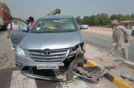 Gwalior, Three Congress leaders, injured,road accident ,going, electoral assembly