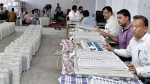 bhopal, MP: Preparation counting , votes completed, 5-5 VVPET slips