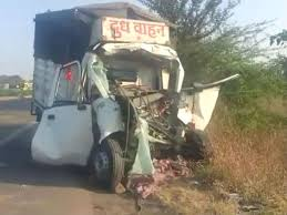 Indore, Milk vehicle ,rammed into , soybean-filled tractor, two killed