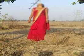 rajgarh, Newly married, woman committed ,suicide ,planting a tree