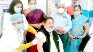 bhopal, Minister Patel ,gets vaccinated , Kovid vaccine dry run