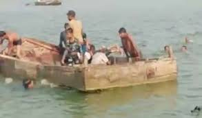 singroli, Rescue operation continues , two children, drowned as boat ,capsizes in Son river