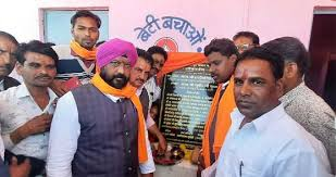 mandsour,Minister Dung, inaugurated Anganwadi building, met with villagers